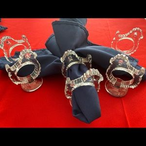Other - Set of 6 crystal chick napkin rings